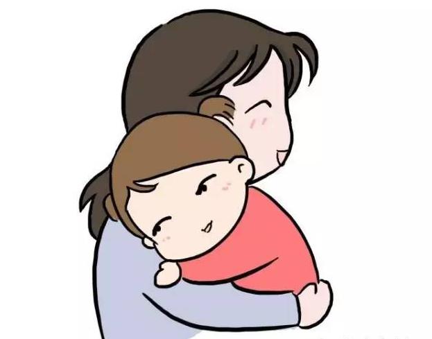拥抱卡通图片幼儿